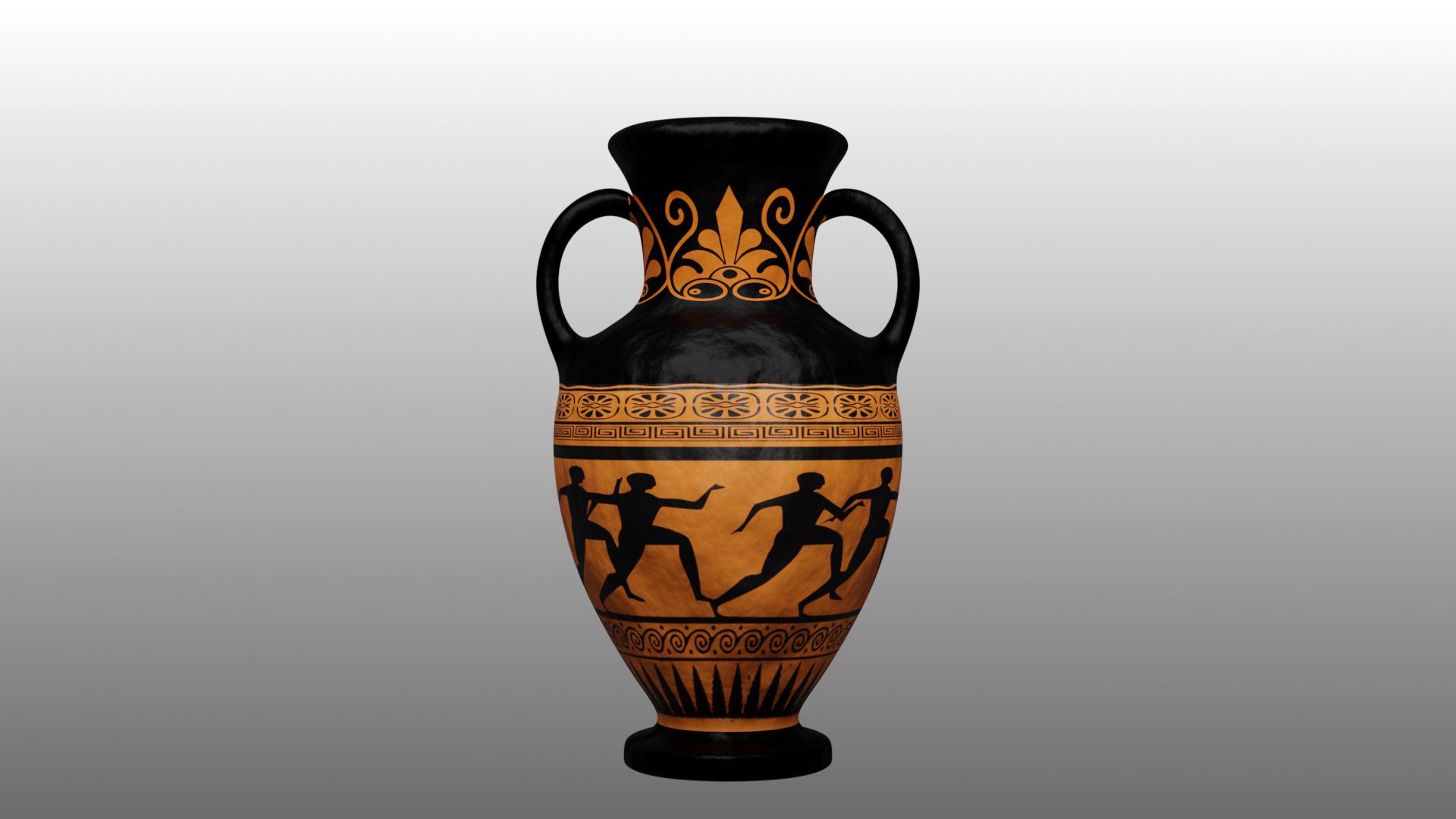 Greek Vase (Made with Blender)