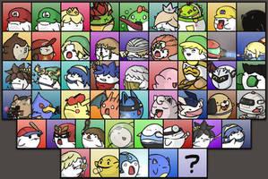 Super Smash Boos - CHARACTER STICKER SELECT! by PeekingBoo