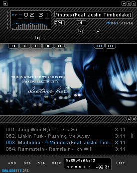 Skins winamp! Electric_Feel_by_malionette