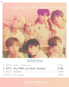 BTS Winamp Skin: Map Of The Soul Persona