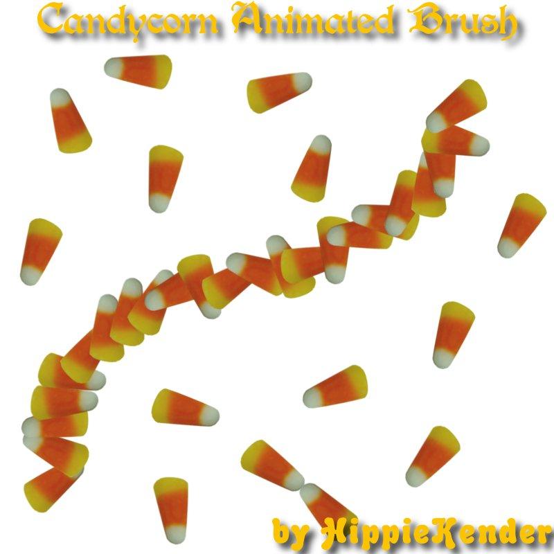 Candycorn Animated GIMP Brush