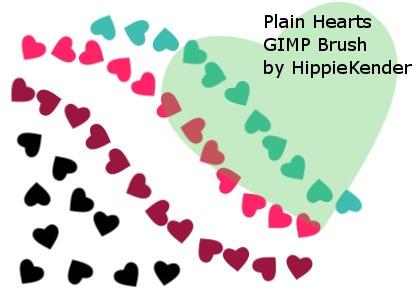 Plain Hearts GIMP Brush by HippieKender