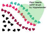 Plain Hearts GIMP Brush