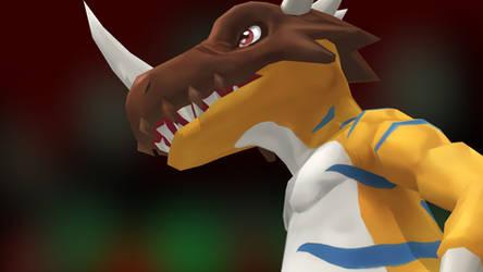Greymon X (Digimon Masters) by GuilTronPrime