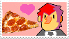 :Stamp: Khonjin x Pizza by Green-Puppy