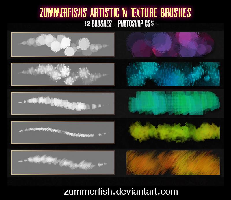 Zummerfish's Artistic N Texture Brushes by zummerfish