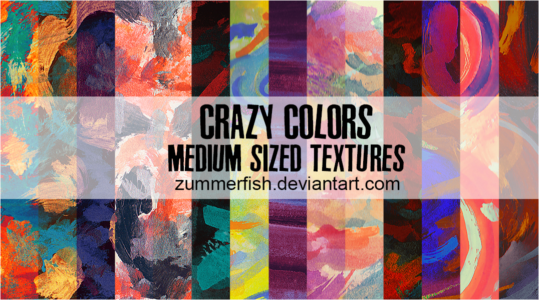 Crazy Colors 20 Watercolor Textures By Zummerfish