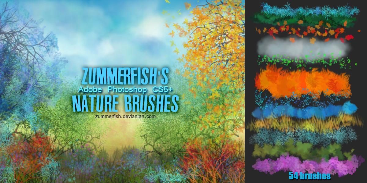 Zummerfish's Nature Brushes by zummerfish