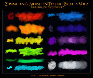 Zummerfish's Artistic N Texture Brushes Vol2 by zummerfish