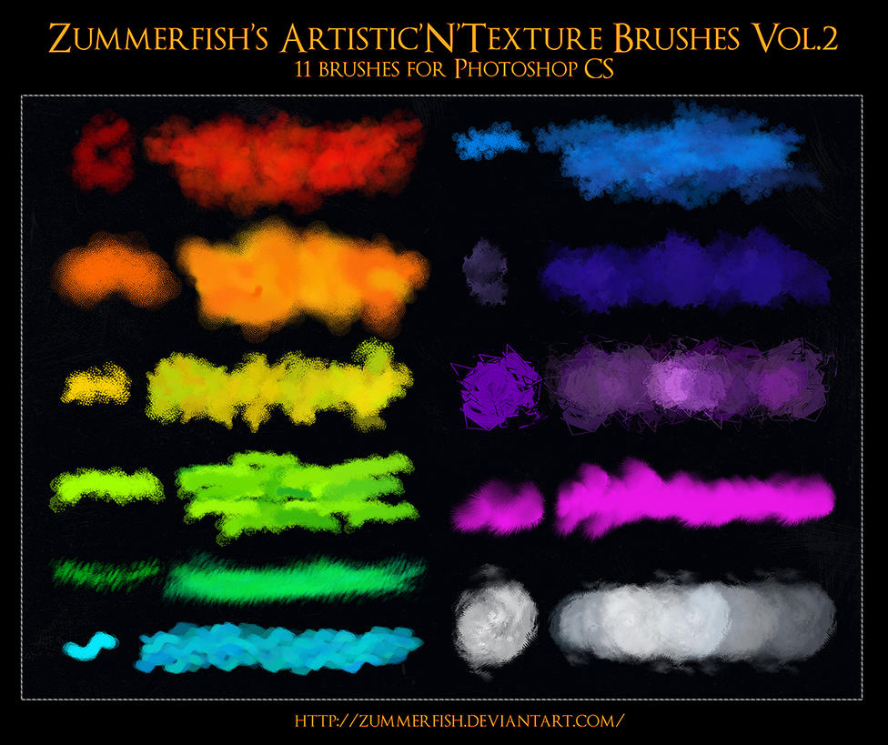 Zummerfish's Artistic N Texture Brushes Vol2 by zummerfish