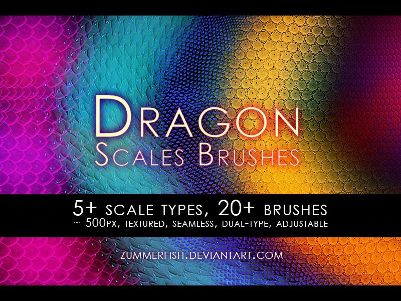 Zummerfish's dragon scales brushes by zummerfish
