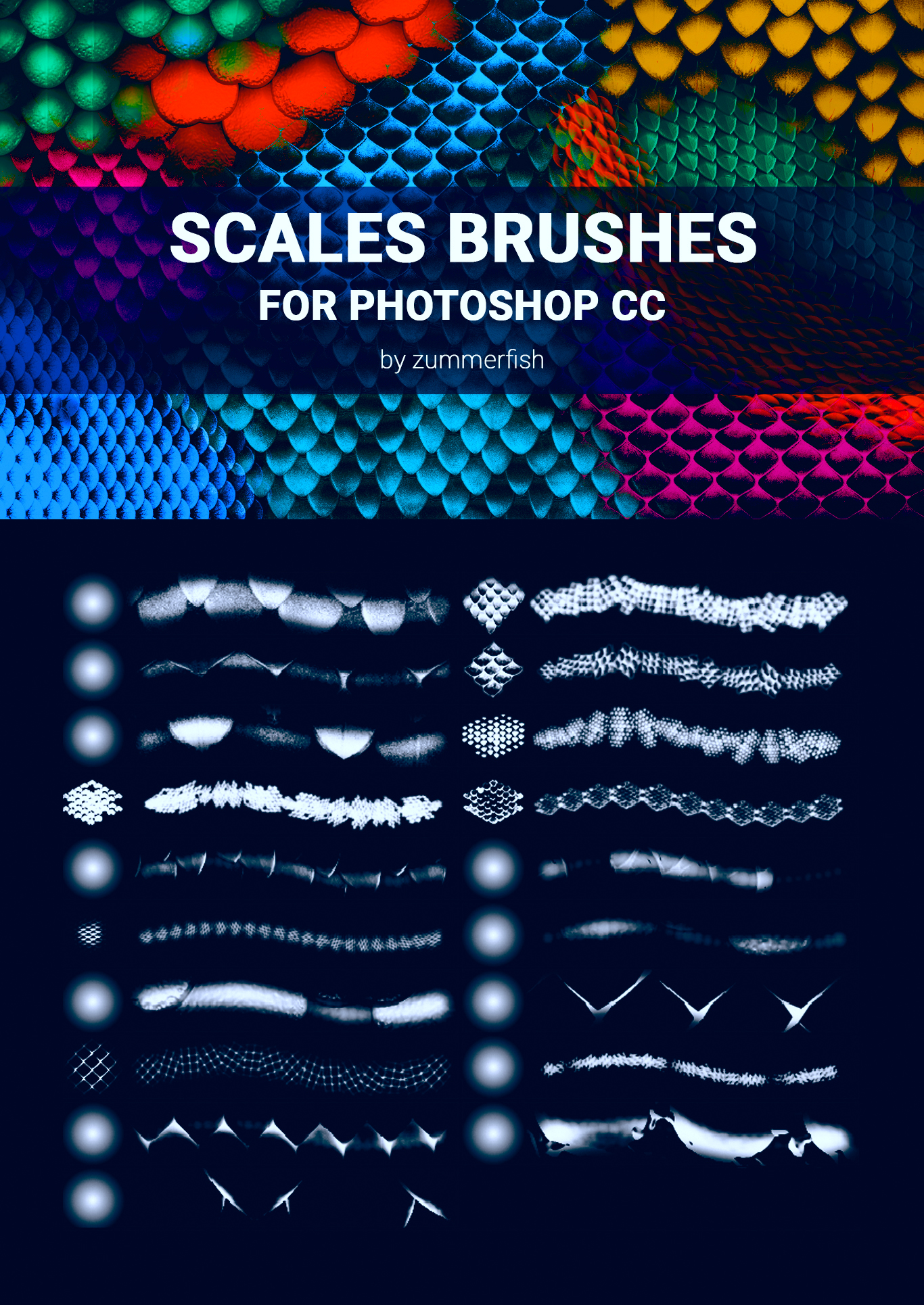 Zummerfish's Scales Brushes for Photoshop