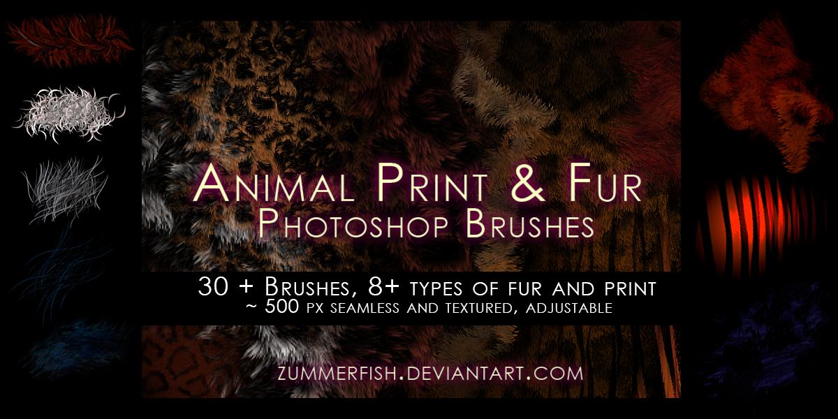 Zummerfish's animal fur and print brushes