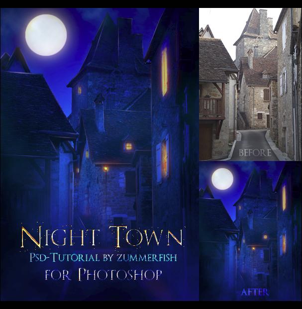 Night Town Psd-Tutorial by zummerfish