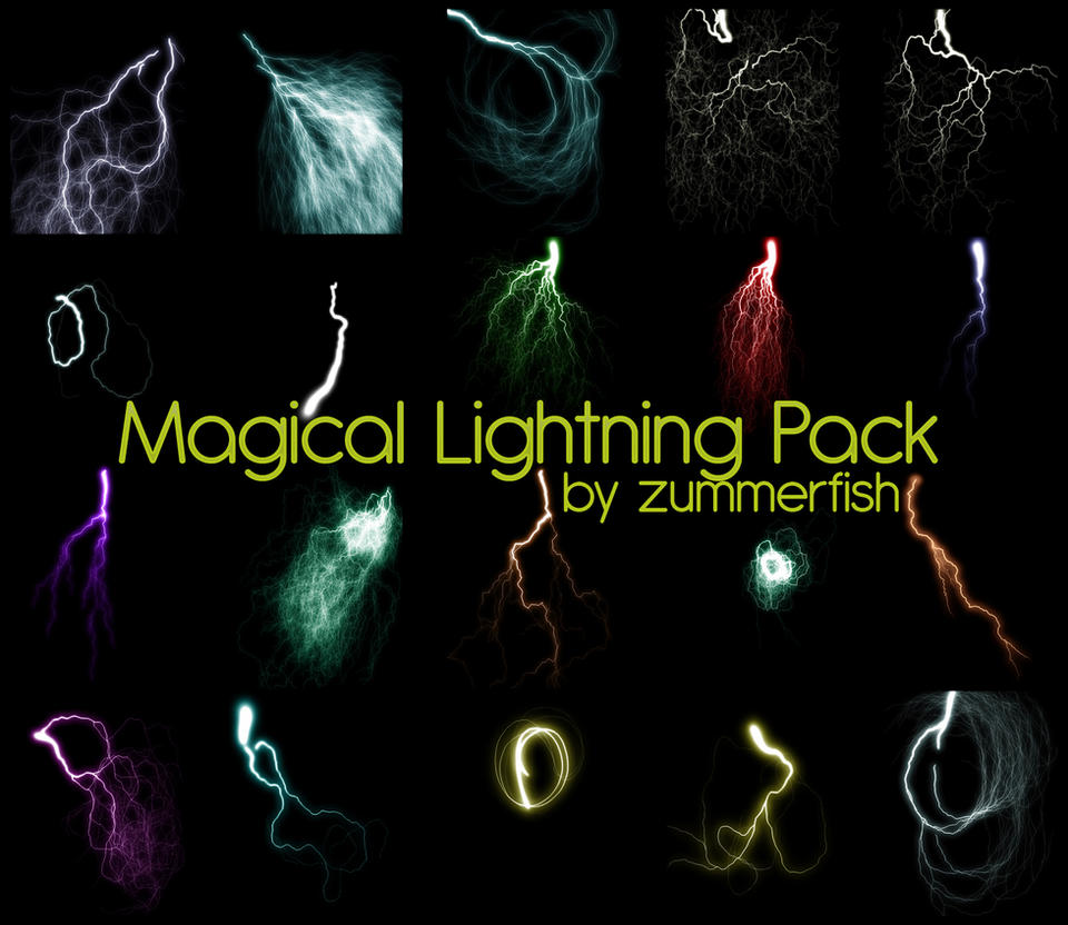 Magical Lightining Image Pack by zummerfish