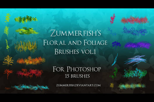 Zummerfish's Floral and Foliage brushes vol.1
