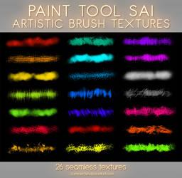 Paint Tool Sai Artistic Textures Vol1 by zummerfish