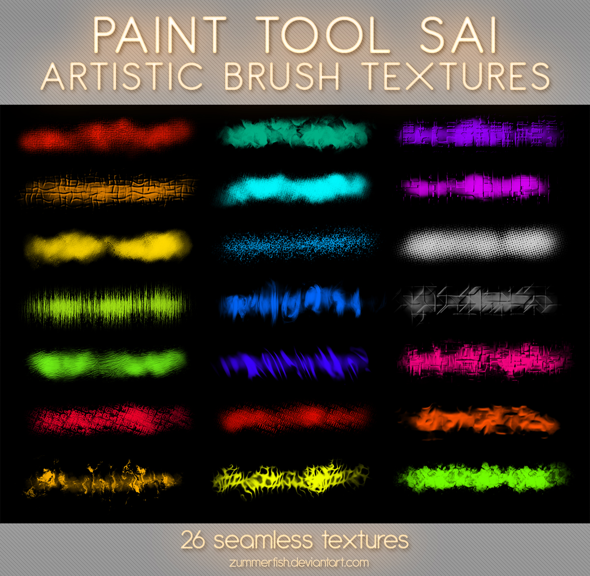 Paint Tool Sai Artistic Textures Vol1 by zummerfish