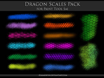 Paint Tool Sai - Dragon Scales Pack by zummerfish