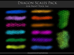Paint Tool Sai - Dragon Scales Pack