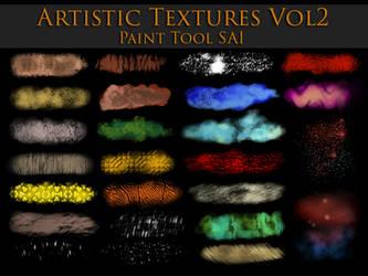 Paint Tool Sai Artistic Textures Vol2 by zummerfish