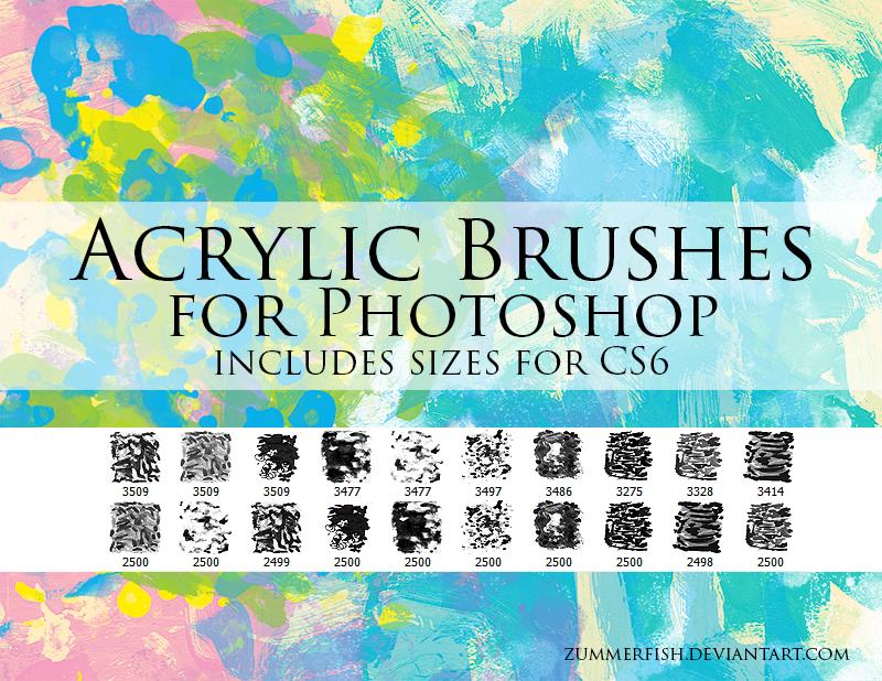 Zummerfish's Acrylic Brushes for Photoshop by zummerfish