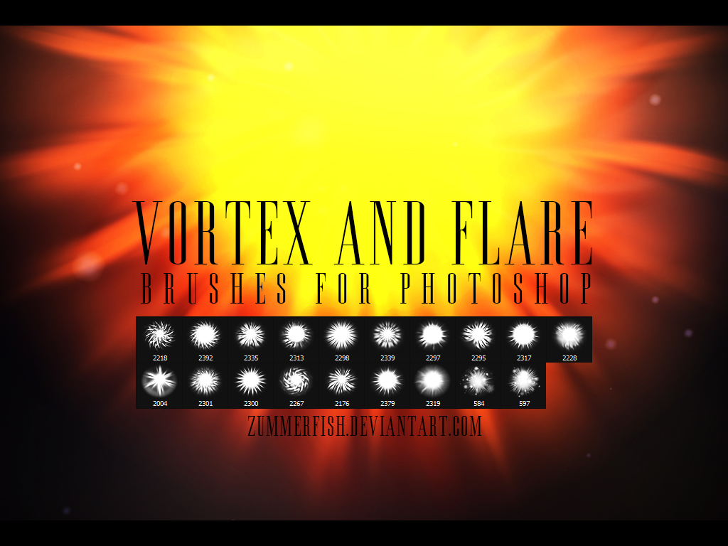 Zummerfish's Vortex And Flare Brushes by zummerfish