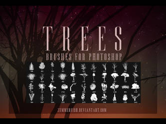 Zummerfish's Trees Brushes by zummerfish
