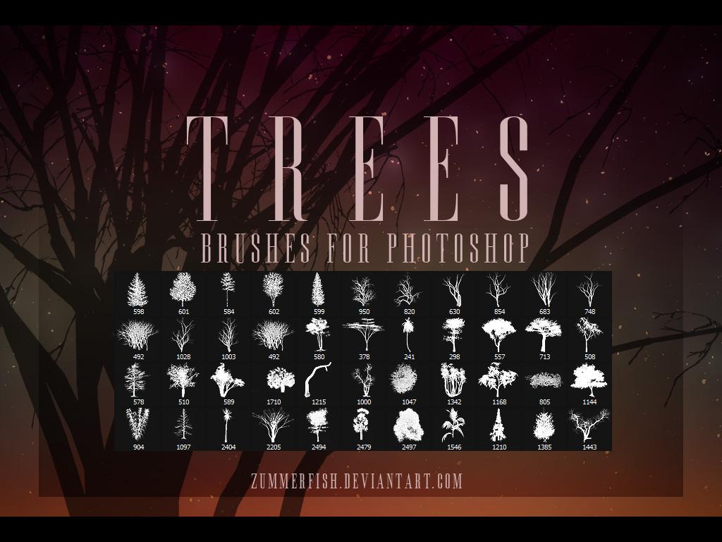Zummerfish's Trees Brushes by zummerfish