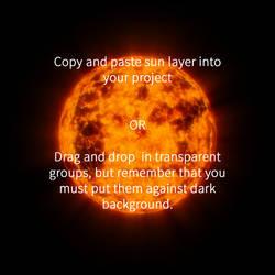 Sun layered .PSD
