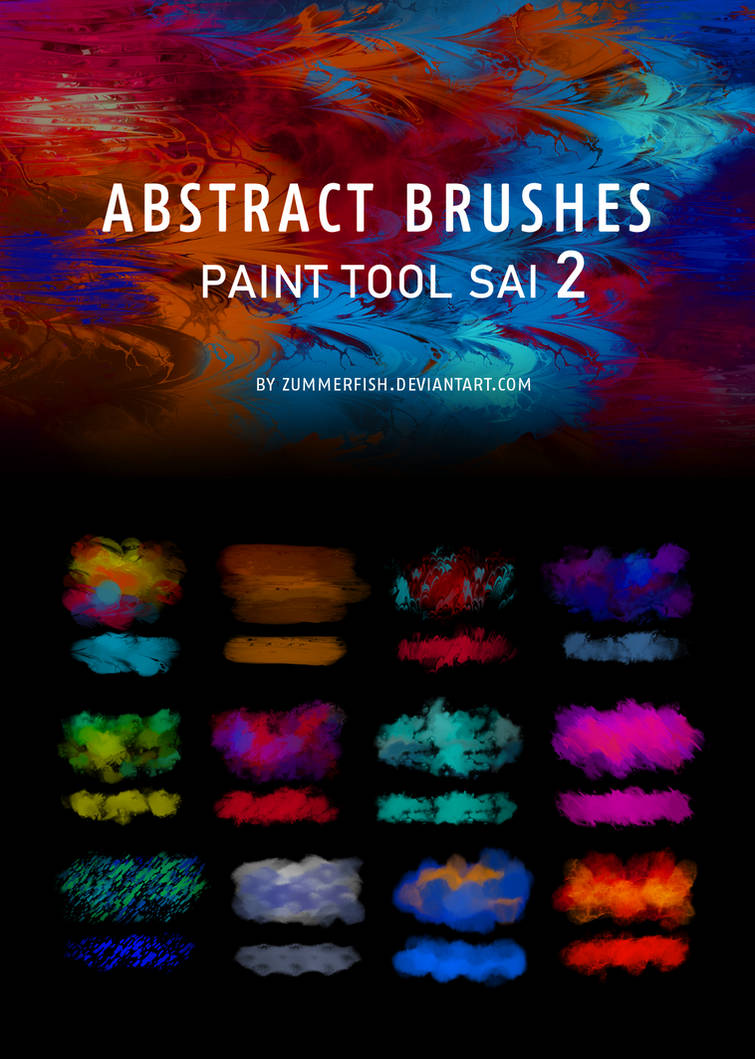 Brush packs for Paint Tool SAI