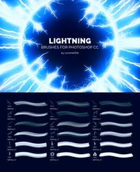 UHQ Lightning Brushes for Photoshop CC
