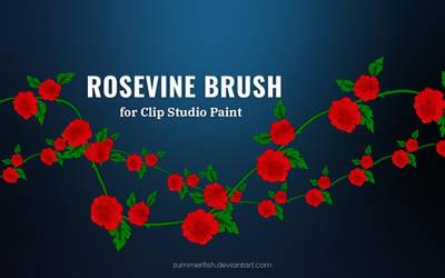 Rosevine brush for Clip Studio Paint