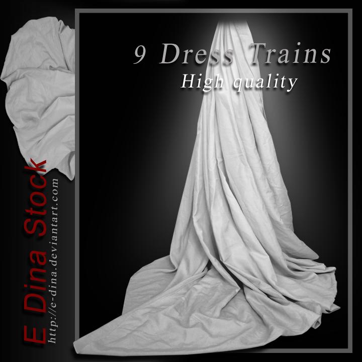 Stock 9 Dress Trains by E-DinaPhotoArt