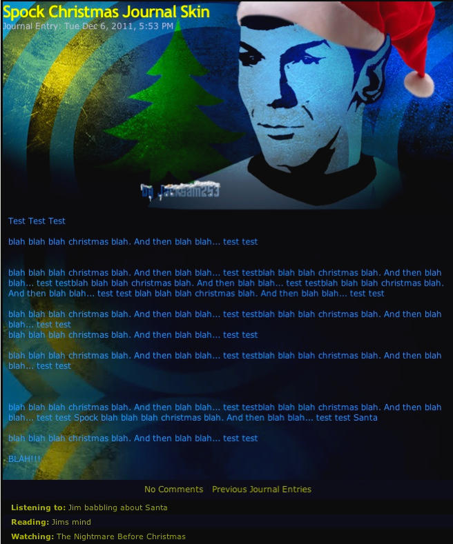 Spock Christmas Journal Skin by Jacksam253