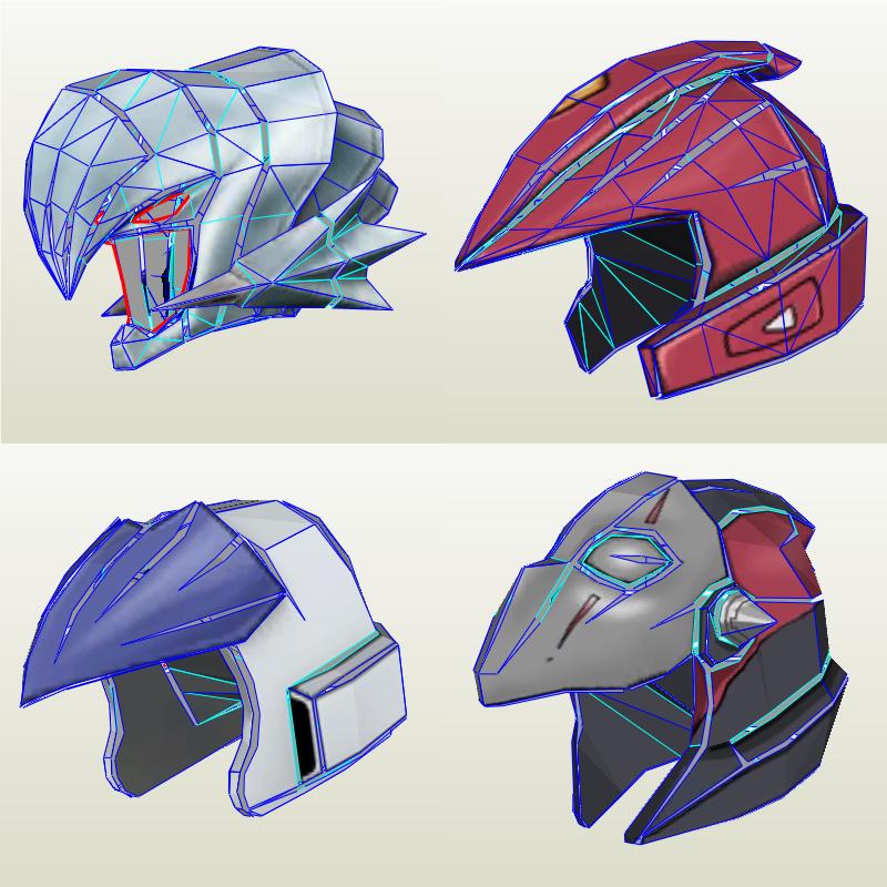 4 YuGiOh helmet pepakura by KittyInHiding