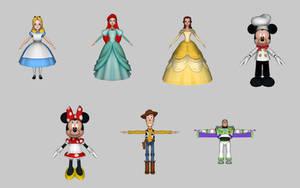 Disney Dream Treats - Characters by KittyInHiding