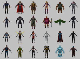 MARVEL Future Fight (link to models)(updated) by KittyInHiding