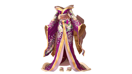 Butterfly Kimono Outfit (MMD)