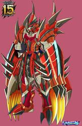 Wargreymon Rathalos ver Monsterhunter15th by dragonnova52