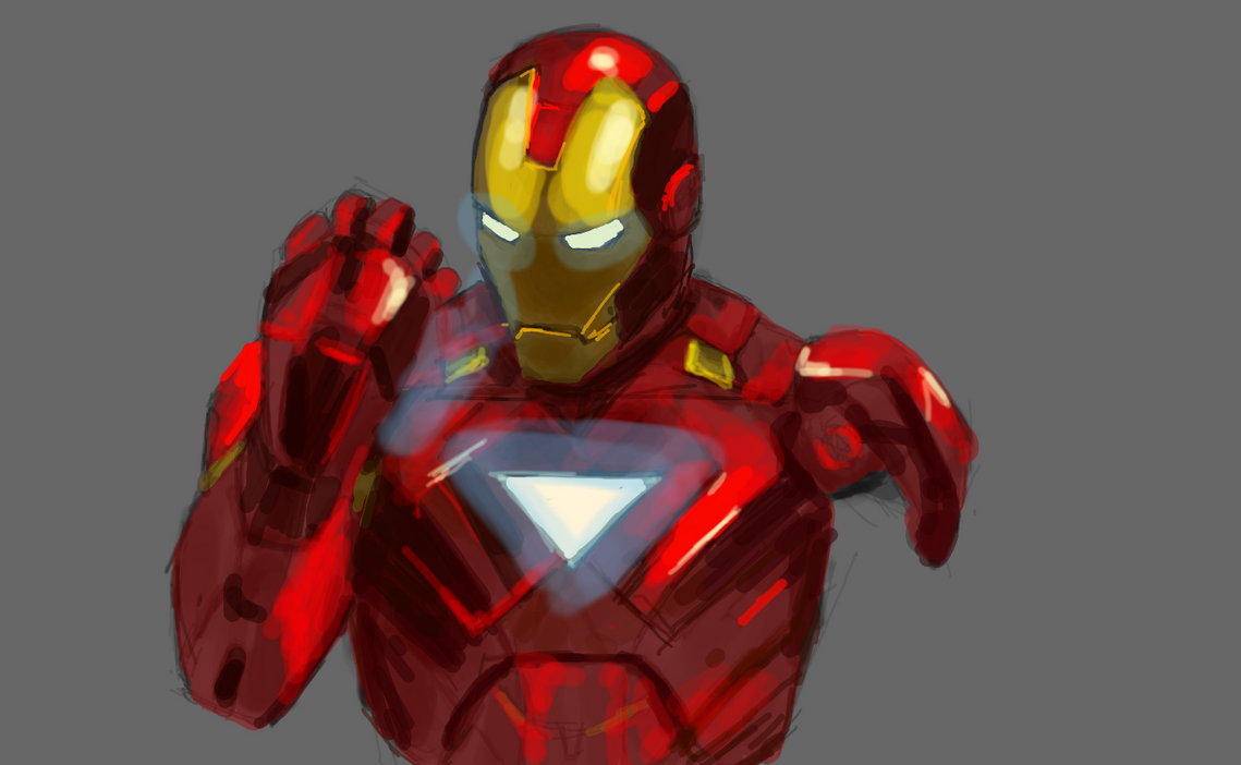 Iron Man Mark VI Sketch by PhotoshopIsMyKung-Fu