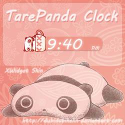 TarePanda Clock xWidget Skin