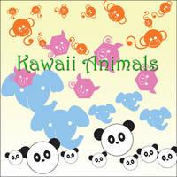 Kawaii Animal Brushes by LynElizBergs