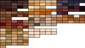 Hair Palette in PSD by radiositysg