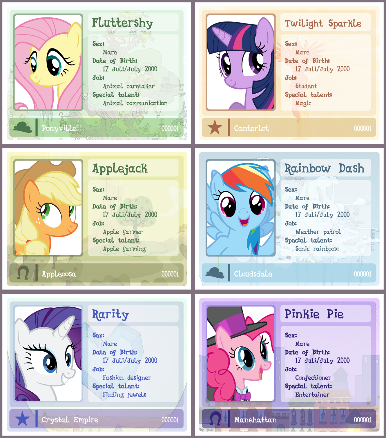 MLP ID card template [UPDATED!] by Pa-Kalsha on DeviantArt