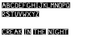 Creak in the Night Font
