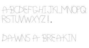 Dawn's A Breakin' Font