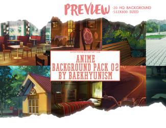 ANIME BACKGROUND PACK 02 by baekhyunism