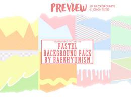 Pastel Background Pack By Baekhyunism