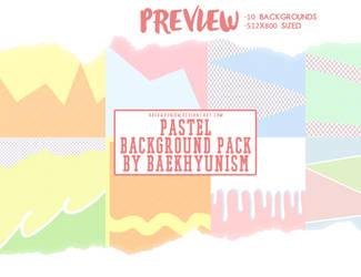 Pastel Background Pack By Baekhyunism by baekhyunism